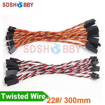 10 Adet * Ağır 22 #/22AWG Servo Twisted Tel 300mm 14434