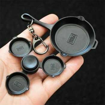 BUHAR Oyun PLAYERUNKNOWNS BATTLEGROUNDS Pan spinner modeli Şampiyonu Metal Pan action figure kıpır kıpır spinner gyro OW LOL COSPLAY 387