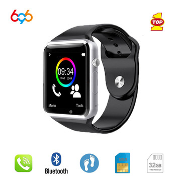 696 Bluetooth A1 SmartWatch Saat Sync Notifier Pedometre Destek SIM TF Kart Bağlantısı Apple iphone Android Telefon Smartwatch 6890