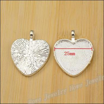 30 pcs Charm Photo Frame Pendant bright silver Zinc Alloy Fits Bracelet Necklace DIY Metal Jewelry Findings JC589