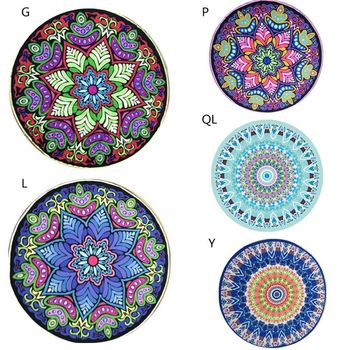 Beach Towel Mandala Tapestry Beach Towel Picnic Blanket Tassel Sunbath Yoga Blanket Tapete Bathroom Doormat Carpet Kitchen Mat